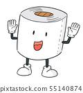 vector of tissue paper cartoon 55140874