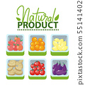 Natural Product, Market with Fruits and Veggies 55141402
