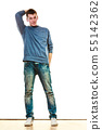 Young man casual style posing isolated 55142362