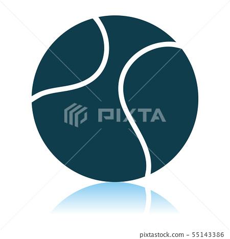 Tennis Ball Icon 55143386