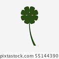 Four-leaf clover icon 55144390