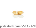 Dinkel wheat grain isolated on white 55145320