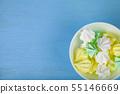 Meringue in a white bowl 55146669