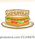 Vector poster for Sandwich 55146876
