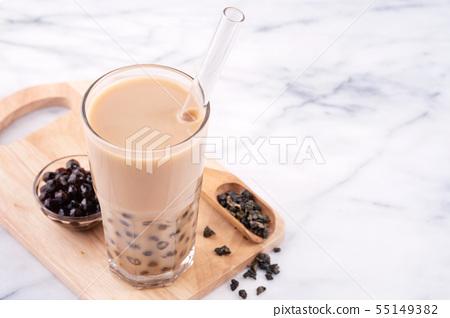 台灣飲料木薯珍珠奶茶 55149382