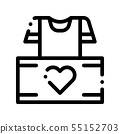 Volunteers Support Thing Box Vector Thin Line Icon 55152703