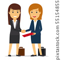 Business women shaking hands 55154855
