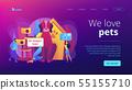 Pet friendly place concept landing page 55155710