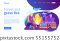 Prevention of wildfire concept landing page. 55155752