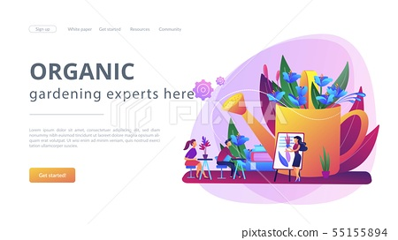Garden workshop concept landing page 55155894