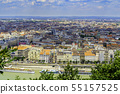 Landscape of Budapest over the Danube river. 55157525