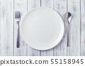 접시와 포크와 스푼 55158945