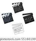 Movie cracker.Making movie single icon in cartoon,black style vector symbol stock illustration web. 55160199