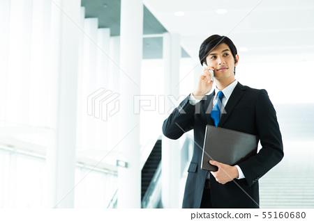 비즈니스 사업가 남성 사무실 55160680