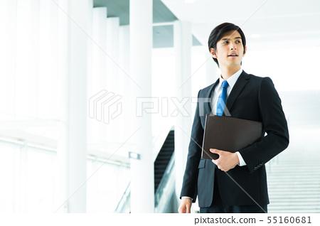 비즈니스 사업가 남성 사무실 55160681
