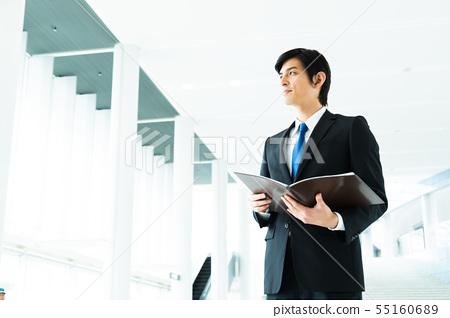 비즈니스 사업가 남성 사무실 55160689
