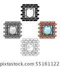 Prison escape icon in cartoon,black style isolated on white background. Crime symbol stock vector 55161122
