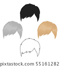 Man s hairstyle icon in cartoon,black style isolated on white background. Beard symbol stock vector 55161282