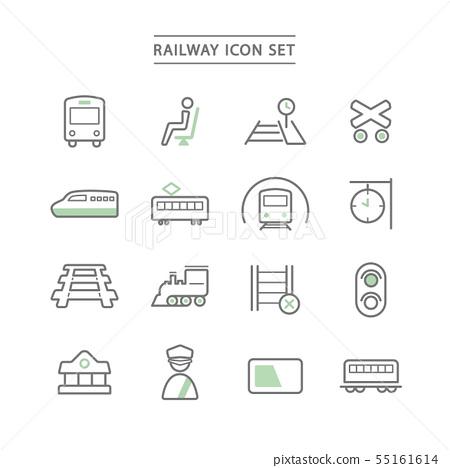 RAILWAY ICON SET 55161614