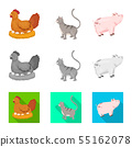 Isolated object of breeding and kitchen symbol. Collection of breeding and organic stock symbol for 55162078