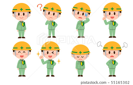 Newcomer construction site worker set (male) 55165302