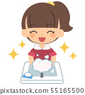 兒童女孩洗手美麗 55165500