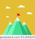mountain icon on white. leadership concept. 55165829
