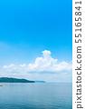 여름 이미지 푸른 하늘 바다 55165841