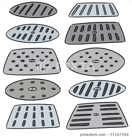 vector set of cover the drain 55167368