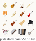 Musical instruments icons 55168341
