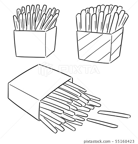 vector set of french fries 55168423