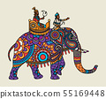 Indian ornate maharajah on the elephant 55169448