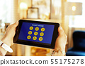 Closeup on tablet PC with smart home application 55175278