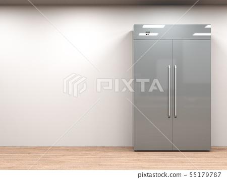 fridge with side by side doors in empty room 55179787