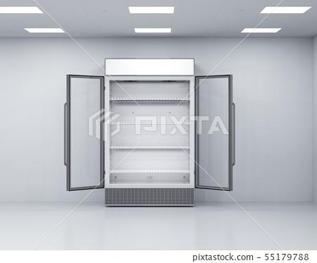 commercial fridge in empty room 55179788