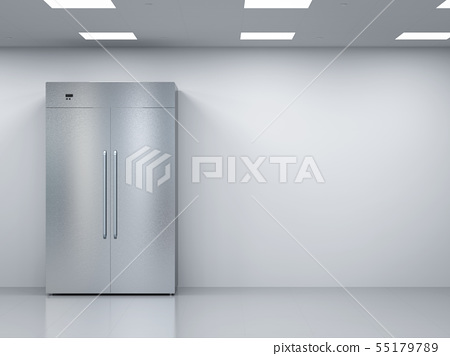 fridge with side by side doors in empty room 55179789