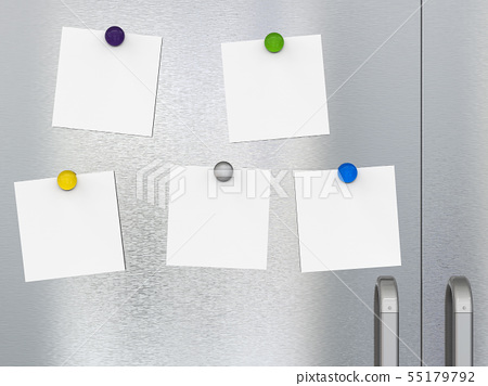 empty notes with fridge magnets 55179792