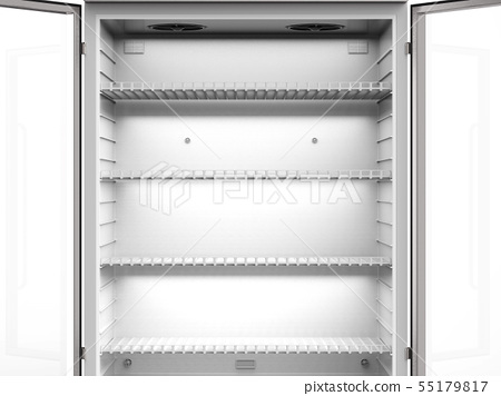 empty shelves in fridge 55179817