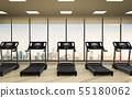 treadmills in fitness gym 55180062