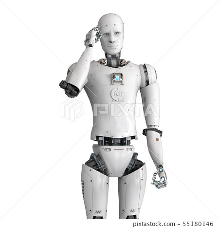 android robot thinking 55180146