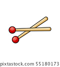 Drum sticks cartoon icon symbol design isolated on 55180173