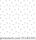 Seamless pattern with little ants. Simple minimalistic illustration on white background. 55183391