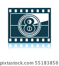 Movie Frame With Countdown Icon 55183856