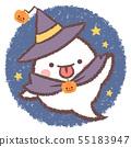 ฮาโลวีนตัวช่วยสร้าง Ghost-Night Sky 55183947
