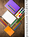 Back to school supplies 55185479