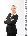 Smiling confident businesswoman 55186633