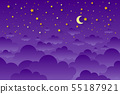 night sky background stars and moon. Can be used 55187921