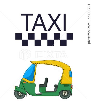 Indian tuktuk rickshaw taxi 55188791