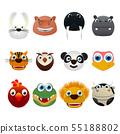 Cute animal icons 55188802