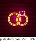 Wedding Rings Neon Sign 55188897